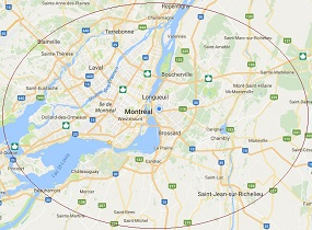 Service Area: Montreal, Laval, Longueuil